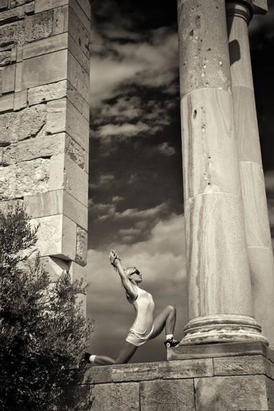 Wall Art - Photograph - Yoga At Apollo by Stelios Kleanthous