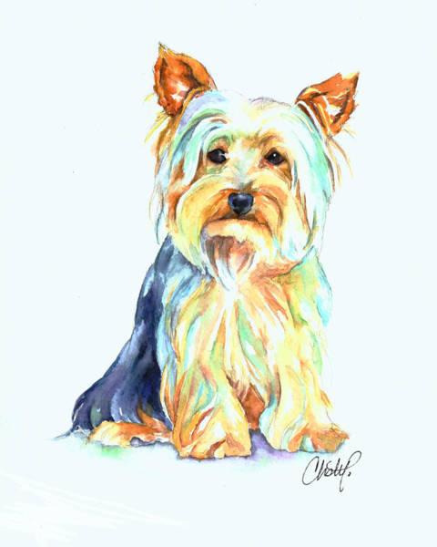 Yorkie Dog Portrait Art Print