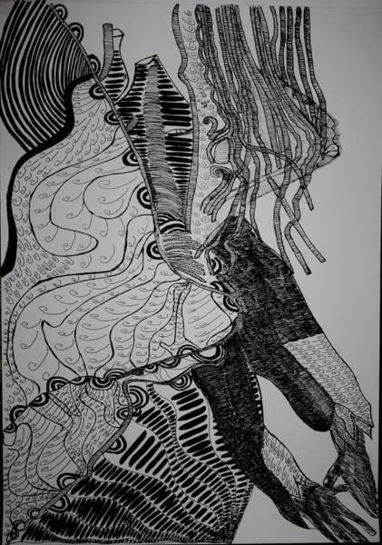 Drawing - Yoruba Bata Dance From Nigeria by Gloria Ssali