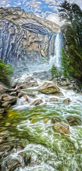 Painting - Yosemite - Angel Falls - 02 by Gregory Dyer