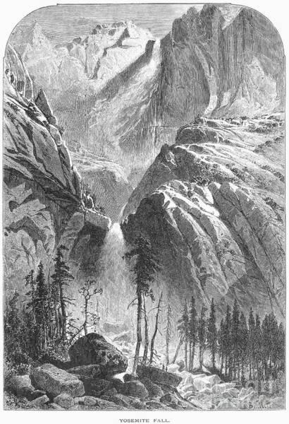 Photograph - Yosemite Falls, 1874 by Granger