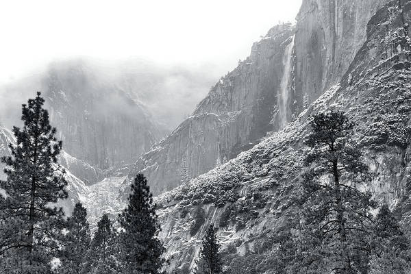 Wall Art - Photograph - Yosemite Falls In Winter by Stephen  Vecchiotti