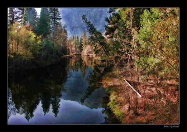 Photograph - Yosemite Leaning Tree Over Lake by Blake Richards