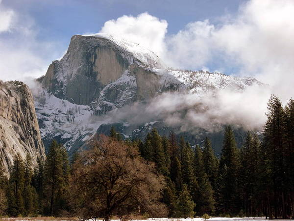 Photograph - Yosemite's Half Dome In Winter Sun And Snow by Jeff Lowe