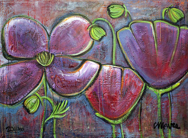 Painting - You Are My Sanctuary Poppies by Laurie Maves ART