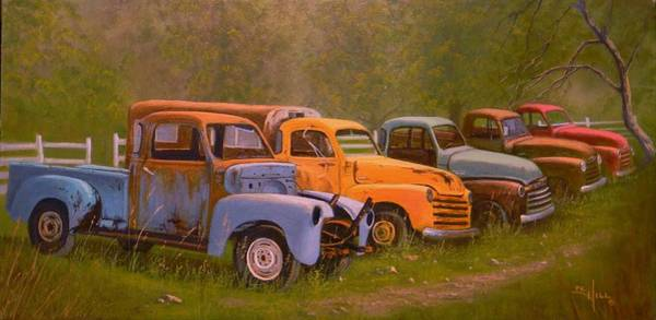 Old Chevy Truck Painting - You Rest You Rust by Paul K Hill