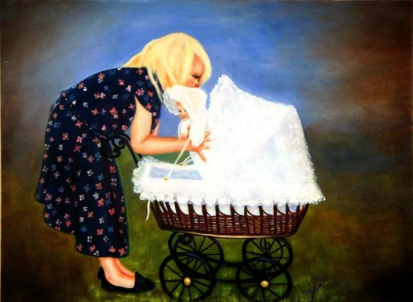 Painting - Young Mommy by Joni McPherson