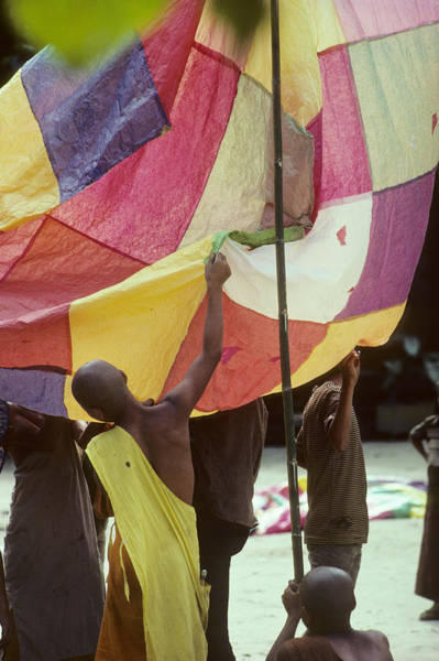 Chang Mai Wall Art - Photograph - Young Monks In Thailand Inflate Balloons by Carl Purcell