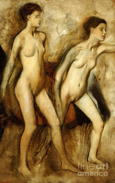 Spartan Wall Art - Painting - Young Spartan Girls Provoking The Boys by Edgar Degas