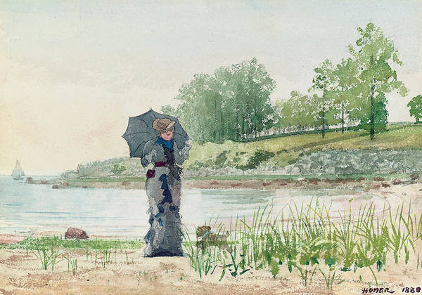 Reservoir Dogs Painting - Young Woman by Winslow Homer