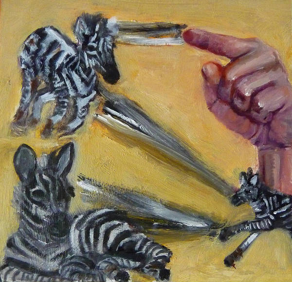 Wall Art - Painting - Z Is For Zebra by Jessmyne Stephenson