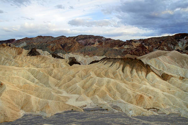Photograph - Zabriskie Point Landscape In Death Valley by Pierre Leclerc Photography