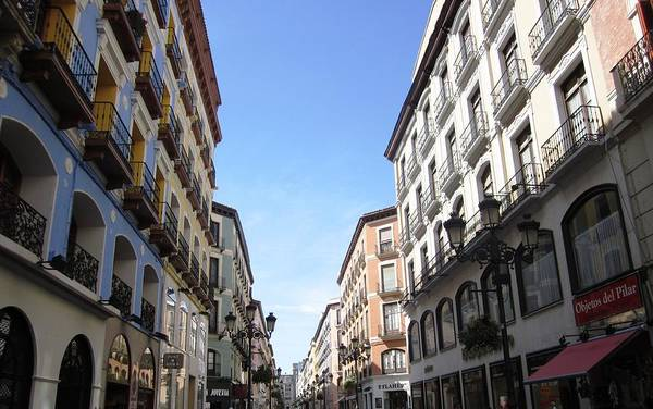 Photograph - Zaragoza Promenade And Shops In Spain by John Shiron