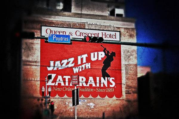 Photograph - Zatarain's Building Sign by Jim Albritton
