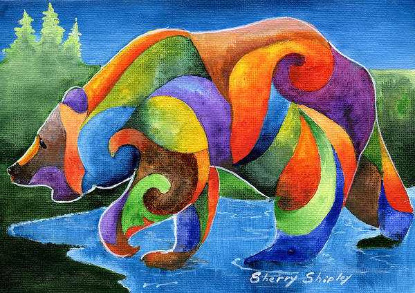 Painting - Zen Bear by Sherry Shipley