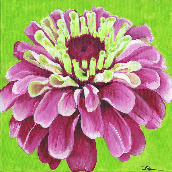 Painting - Zinnia by Debbie Brown