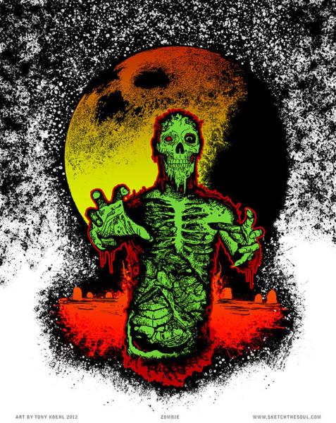 Mixed Media - Zombie by Tony Koehl
