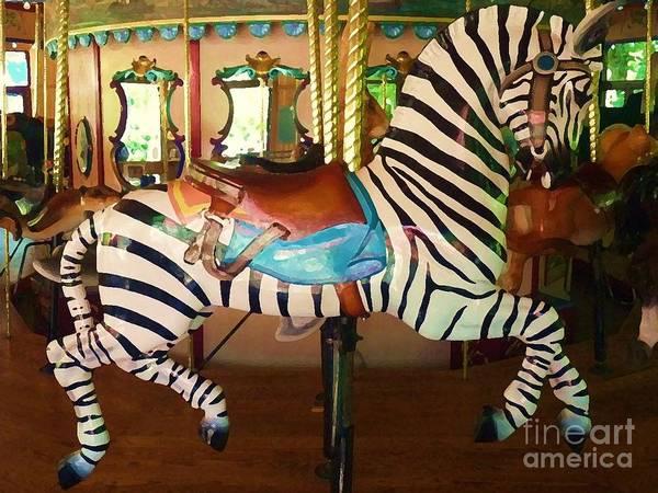 Digital Art - Zoo Carousel 2012 by Kathryn Strick