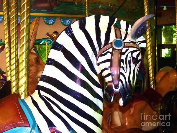 Digital Art - Zoo Carousel II 2012 by Kathryn Strick