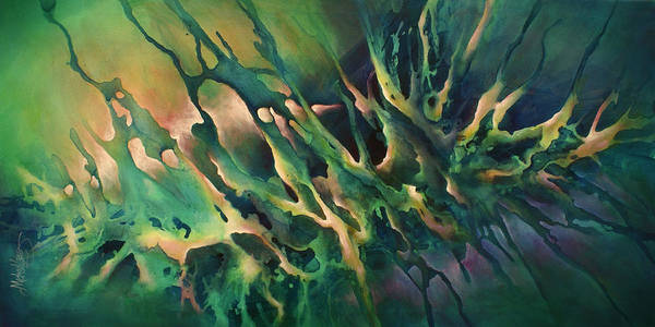 Blending Painting -  ' Conviction ' by Michael Lang