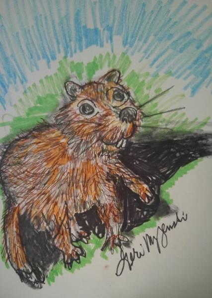 Groundhog Painting -       Groundhogs Day by Geraldine Myszenski