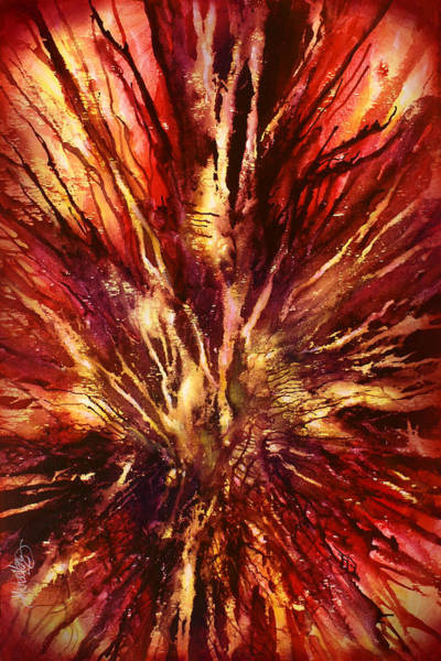 Wall Art - Painting -  ' Inferno' by Michael Lang