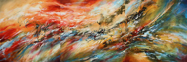 Wall Art - Painting -  ' Red Tide ' by Michael Lang