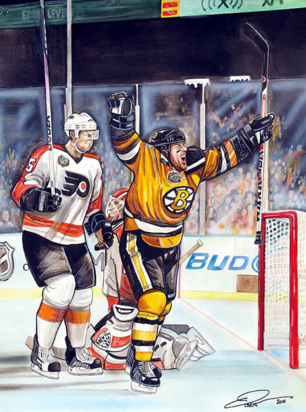 Wall Art - Painting -  2010 Nhl Winter Classic by Dave Olsen