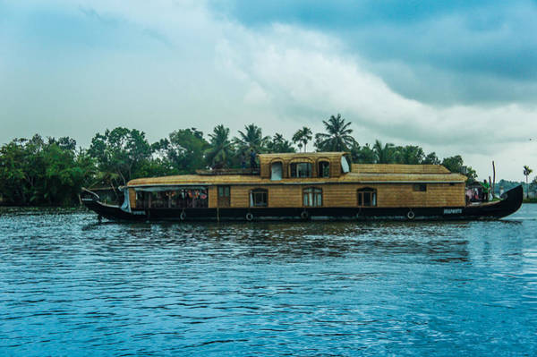 Kerala Photograph -  A House Boat Around The Backwaters In Alleppey, Kerala, India by Art Spectrum