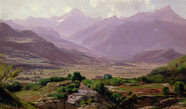 Rolling Hills Painting -  A Valley At Dawn by Antoine Chintreuil