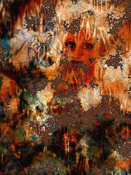 Wall Art - Digital Art -  Abstract Woman And Dove by Patricia Motley