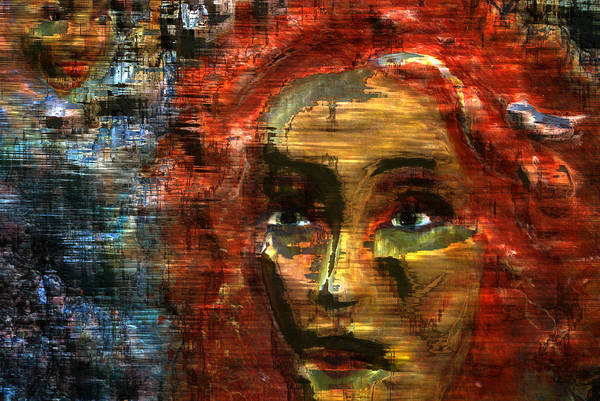 Wall Art - Digital Art -  Abstract Woman by Patricia Motley
