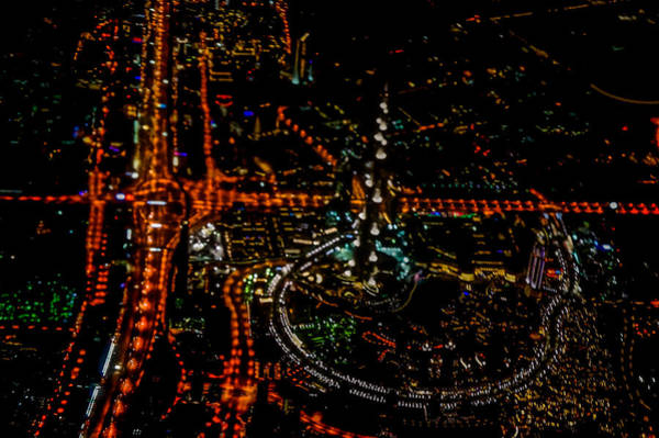 Wall Art - Photograph -  Aerial View Of Burj Khalifa by Art Spectrum