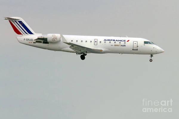 Photograph -  Air France By Britair Canadair- Msn 7321- F-grjq  by Amos Dor