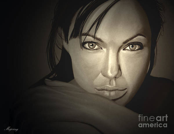 Stone Mixed Media -  Angelina Jolie by Meijering Manupix