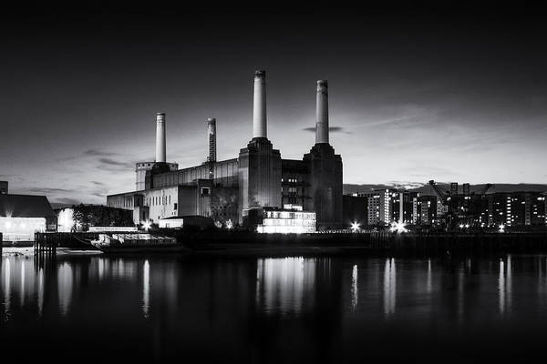 Wall Art - Photograph -  Battersea Power Station In Monochrome by Ian Hufton