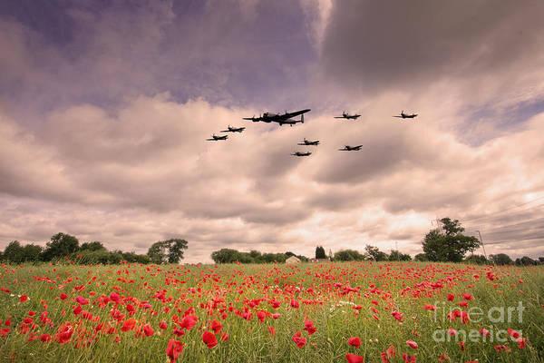 Tribute Digital Art -  Battle Of Britain Anniversary by J Biggadike