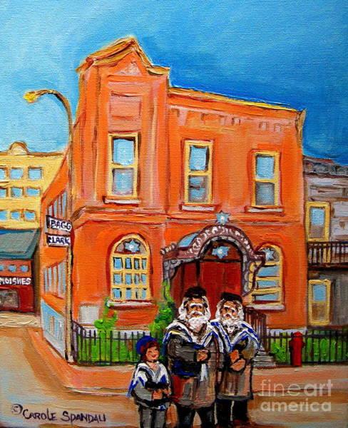 Painting -  Beautiful Synagogue On Bagg Street by Carole Spandau