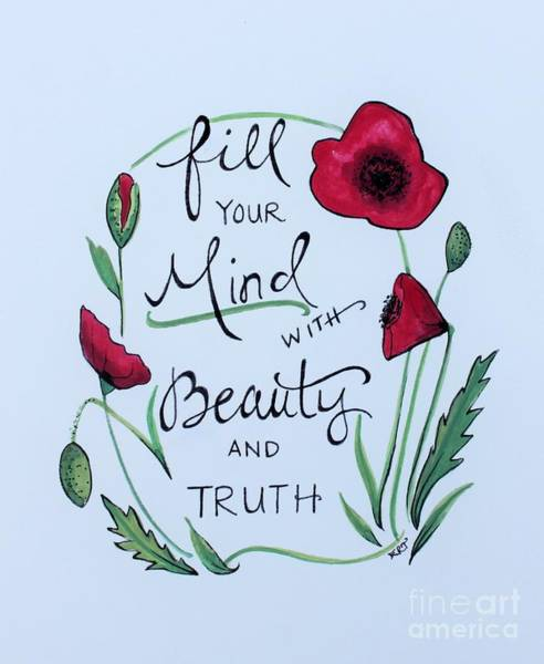 Painting -  Beauty And Truth by Elizabeth Robinette Tyndall