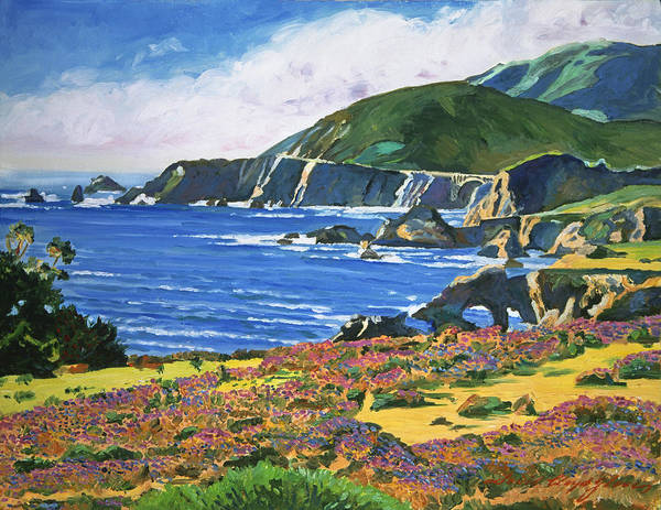 Scenic Highway Wall Art - Painting -  Big Sur by David Lloyd Glover