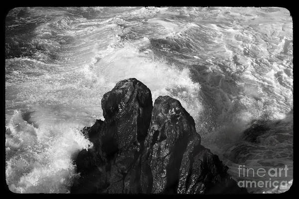Wall Art - Photograph -  Black And White Sea by Stefano Senise