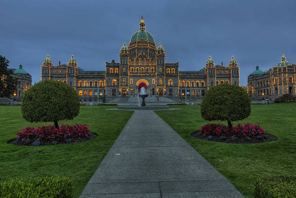 Parliament Photograph -  British Columbia Parliament Buildings by Mark Kiver