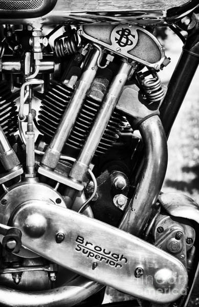 Photograph -  Brough Superior Ss100 Engine by Tim Gainey