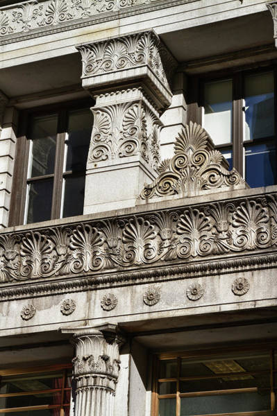 Photograph -  Building Detail At Bowling Green by Val Black Russian Tourchin