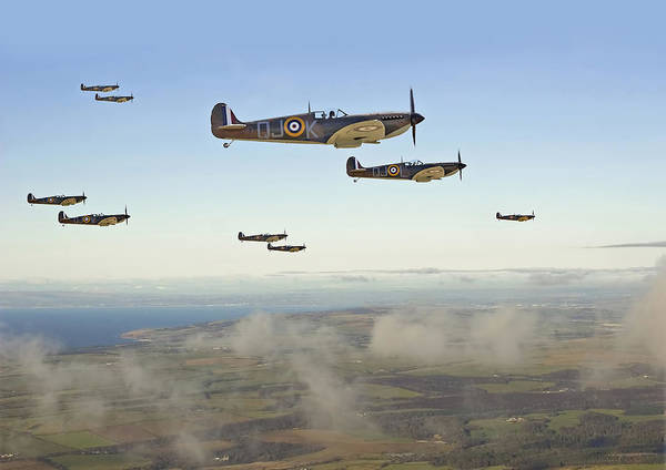 Spitfire Photograph - Spitfires - 'buster -  1940' by Pat Speirs