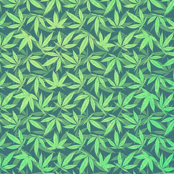 Lucky Digital Art -  Cannabis   Hemp  420   Marijuana  Pattern by Philipp Rietz