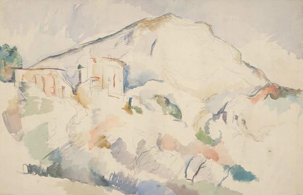 Cezanne Wall Art - Painting -  Chateau Noir And Mont Sainte Victoire by Paul Cezanne