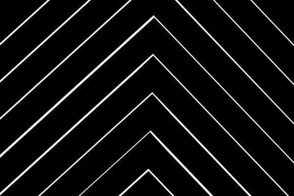 Diagonal Digital Art -  Chevron Shifted by Chastity Hoff