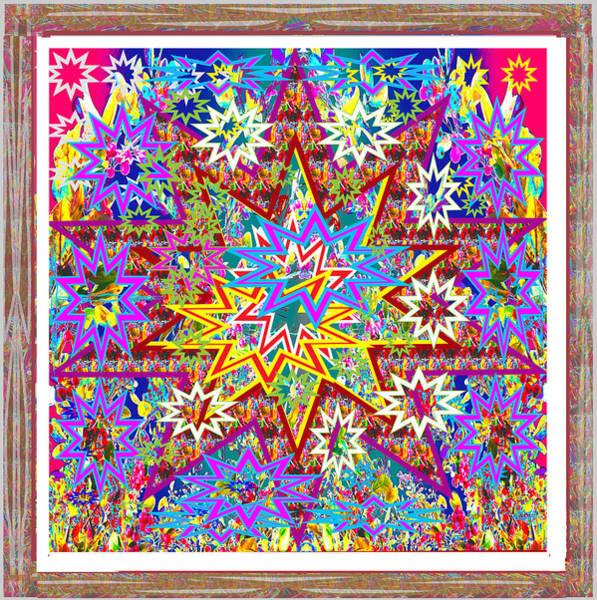 Holiday Cottage Mixed Media -  Christmas Festive Starry Night Abstract Presentation By Navinjoshi      by Navin Joshi