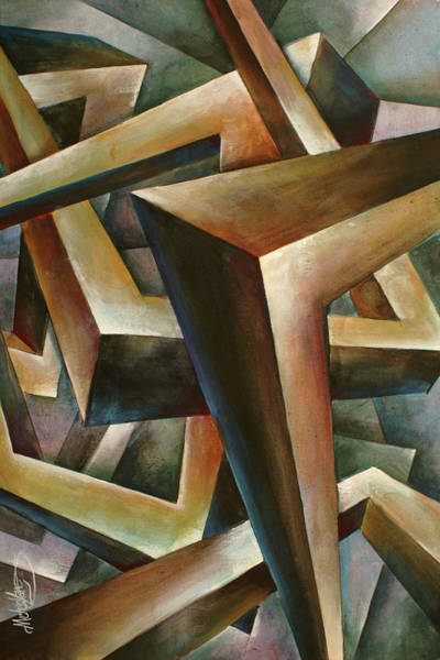 Wall Art - Painting - ' Construct' by Michael Lang